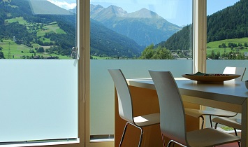Fantastic view from the dining table to the mountains in the Hohe Tauern National Park