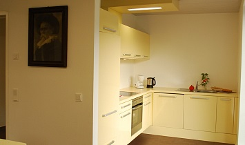 Kitchen in one of the Design apartments - fully equipped